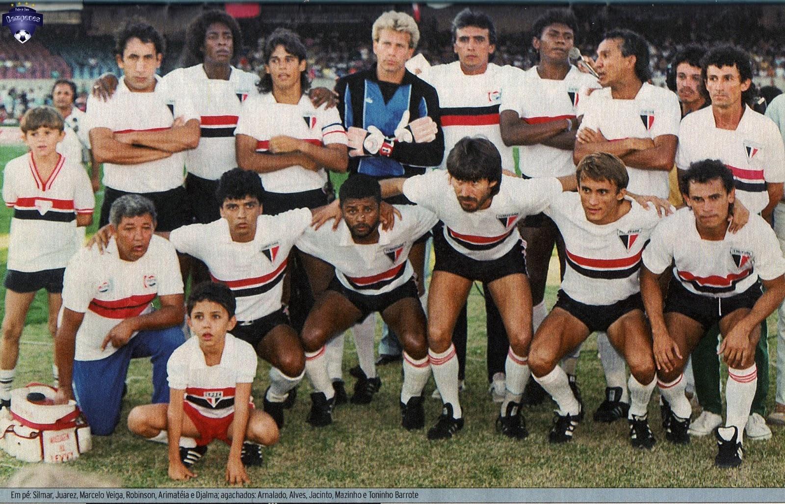 Resultado de imagem para Ferroviário Campeão 1988