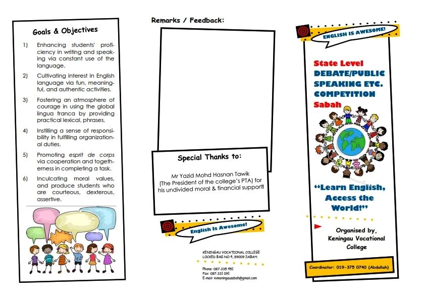 english is awesome english language competition brochure buku program