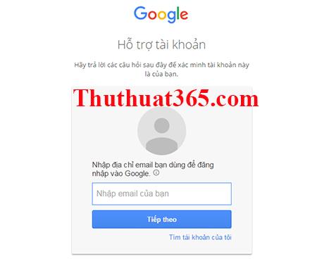 Hướng dẫn thay đổi, tìm lại mật khẩu gmail, tài khoản google-2