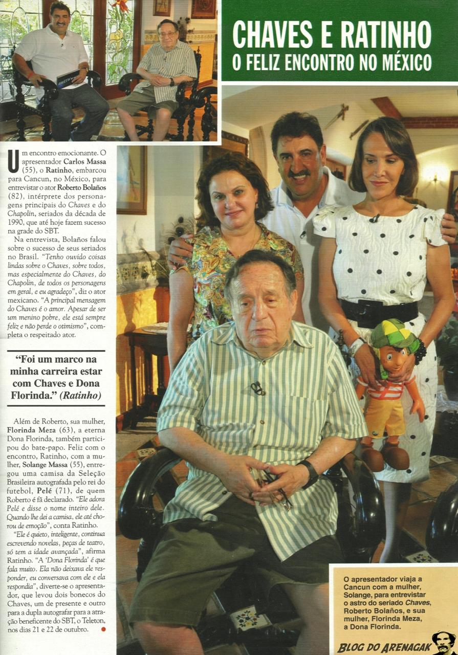 Chaves e Ratinho na Revista Caras