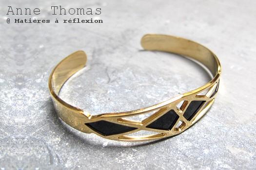 Bracelet Palais Royal noir Anne Thomas