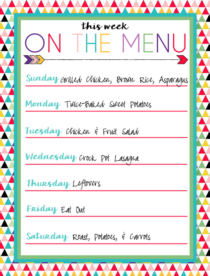 i should be mopping the floor free printable menus