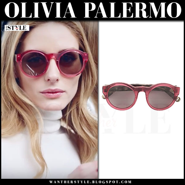 Olivia Palermo with round red sunglasses Max&Co ad campaign winter 2016
