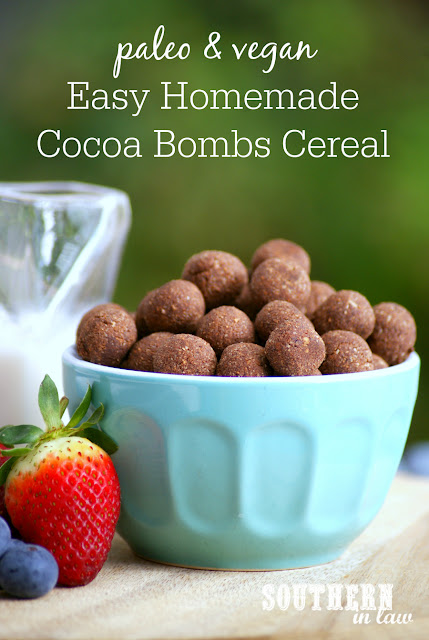 Easy Homemade Paleo Cereal Recipe - cocoa bombs, gluten free, grain free, paleo, vegan, egg free, dairy free, sugar free, clean eating recipe, homemade cereal