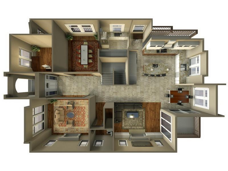 Double Storey 3d Floor Plans For Small Spaces