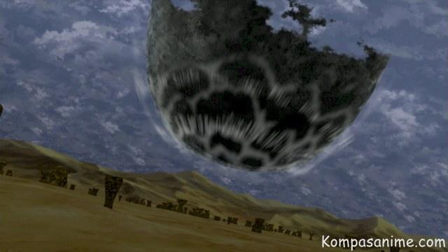 Kemampuan rinnegan madara untuk memanggil meteor besar