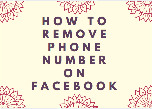 How to remove phone number on Facebook - Search Engine