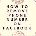 How to remove phone number on Facebook
