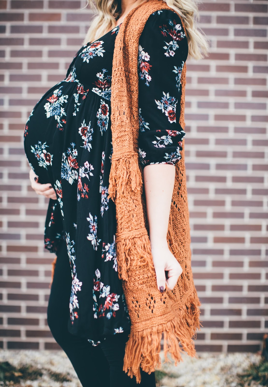 Floral Tunic, Fringe Cardigan, Paige Avenue, Utah Fashion Blogger
