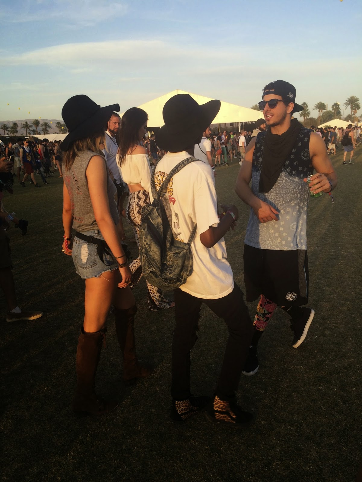 Kylie Jenner at Coachella in Palm Springs, California - Peace & Love: Coachella Outfits by popular Orlando fashion blogger Mash Elle