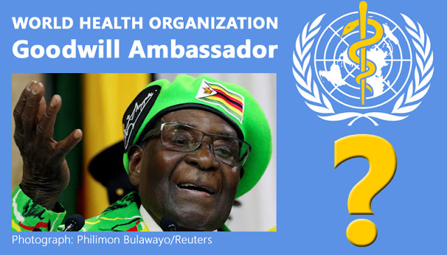 Robert Mugabe appointed as goodwill ambassador by World Health Organization