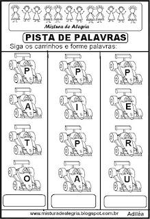 Formando palavras com a letra P