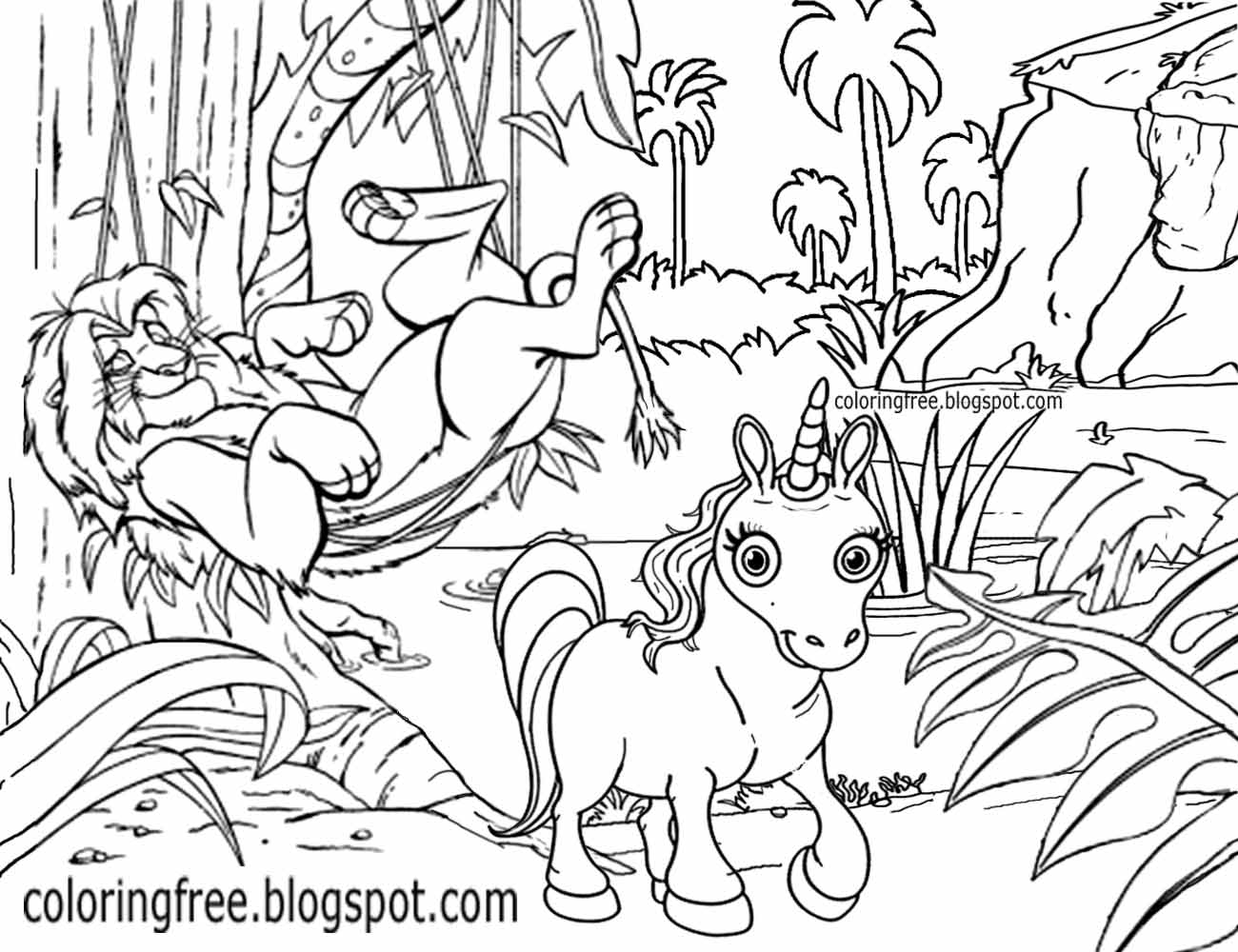 83 Horned Animals Unicorn Coloring Pages