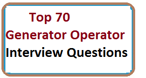 Real Time Generator Operator Interview Questions And Answers PDF