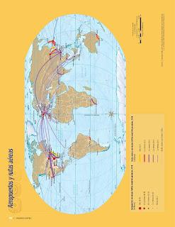 Apoyo Primaria Atlas de Geografía del Mundo 5to. Grado Capítulo 4 Lección 3 Aeropuertos y Rutas Aéreas