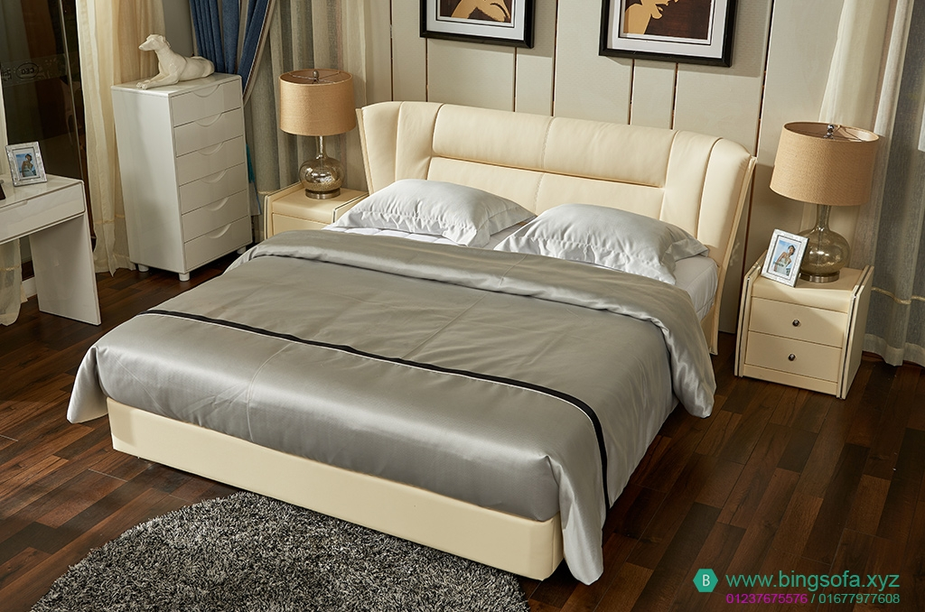 Giường ngủ bọc da hiện đại GN15