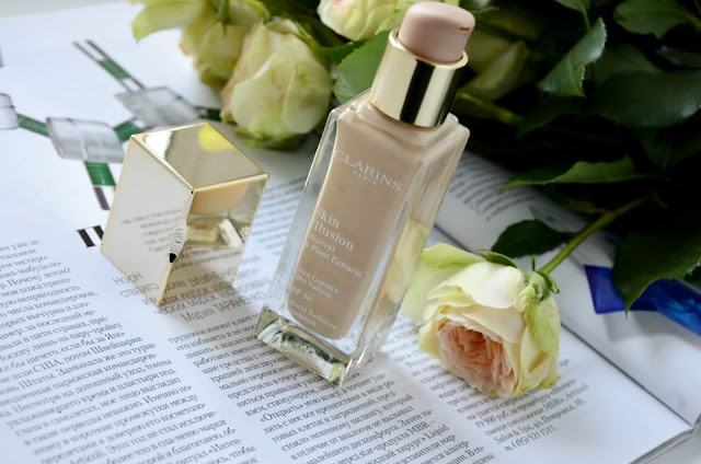 E_katerina: тональная основа Clarins Skin Illusion Mineral & Plant Extracts SPF 10 #105 Nude
