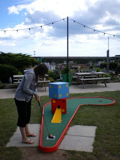 Mini Golf at the Merrivale Model Village in Great Yarmouth, Norfolk