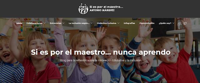 """Nuevo blog """"Si es por el maestro..."""""""
