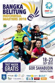 Jadwal Bangka Belitung Indonesia Masters 2018