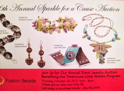 Fusion Beads' Annual Charity Auction postcard