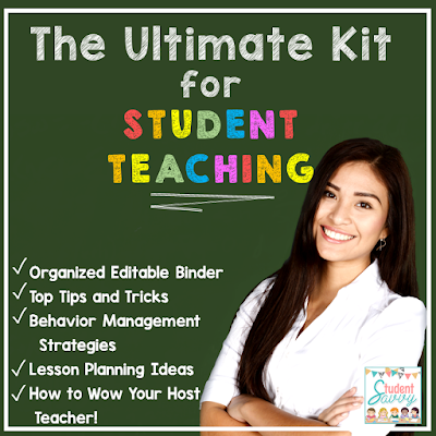 How to THRIVE as a Student Teacher. I Love Tips #2 & #7!! Student Teaching Binder & Survival Kit Resources.