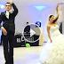 عريس وعروسته يرقصان بطريقة رائعة تجذب المشاهدين