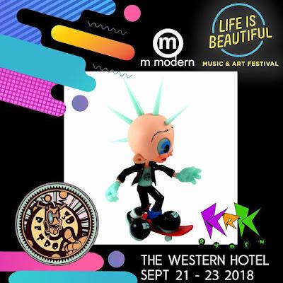 Life Is Beautiful Exclusive Moe Hawk Glow in the Dark Edition Vinyl Figure by KRK Ryden x 3DRetro