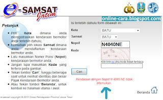 Cek Pajak Kendaraan Online JATIM