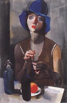 Aba-Novák Vilmos (1894-1941): Back nude, 1928