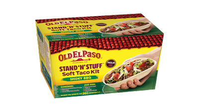 A Pack Shot of Old El Paso Stand N Stuff Soft Taco Kit - Sorry but I threw away the pack before taking a picture!