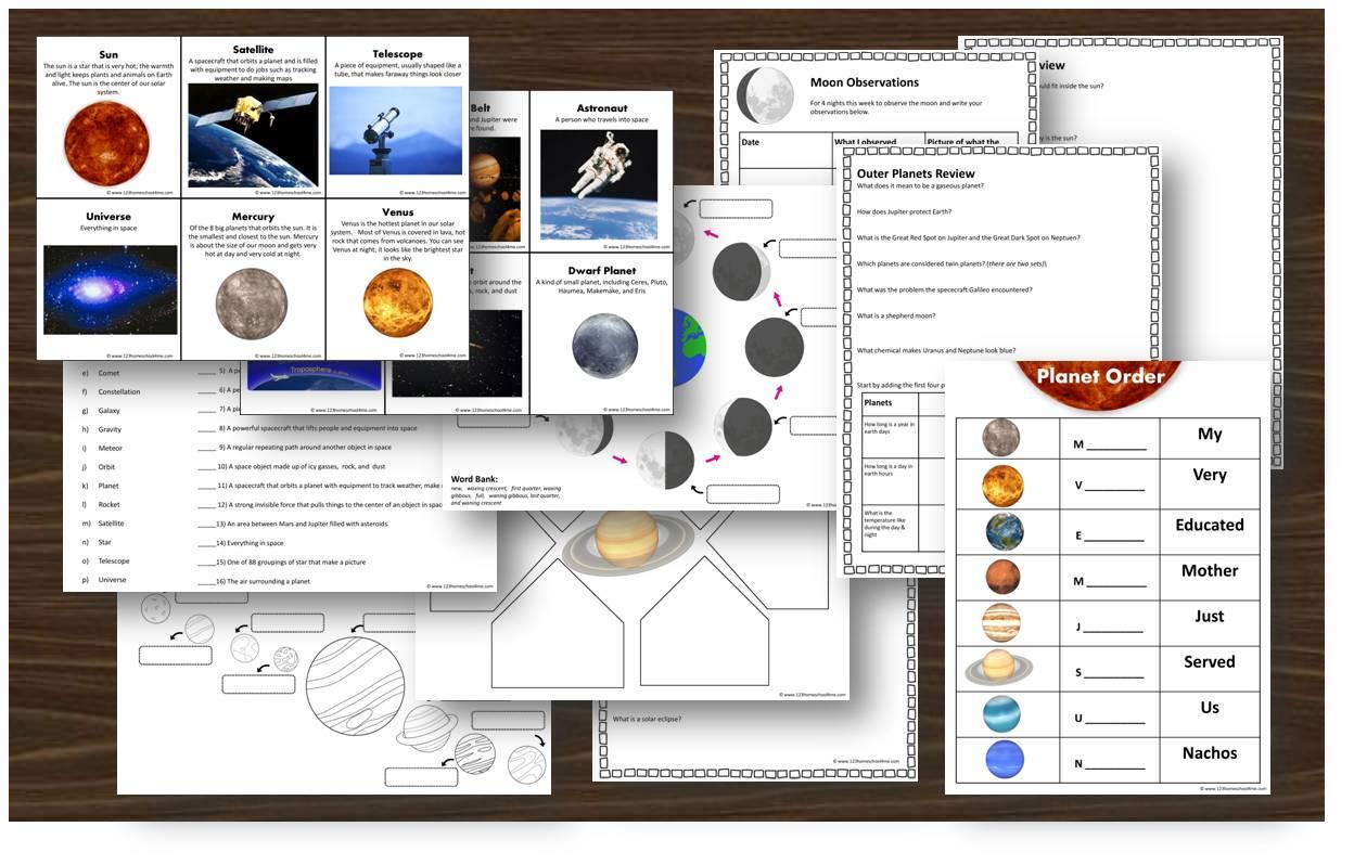 4th Grade Science Worksheet Solar System
