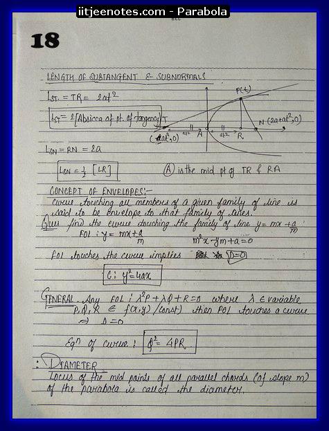 iitjeenotes parabola5