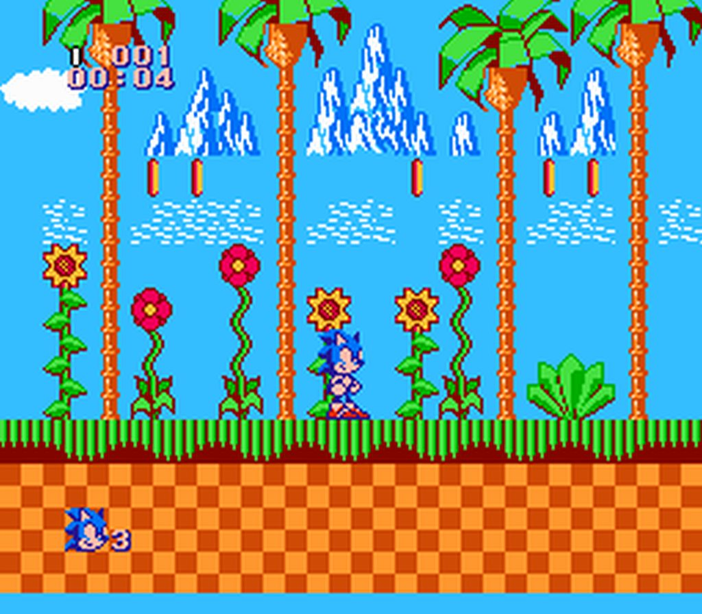 SEGA classic Sonic the Hedgehog on the NES as a hack gets