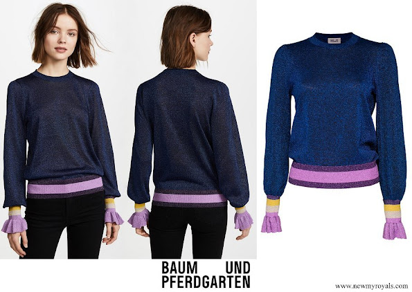 Crown Princess Victoria wore Baum und Pferdgarten Blue Charissa Sweater