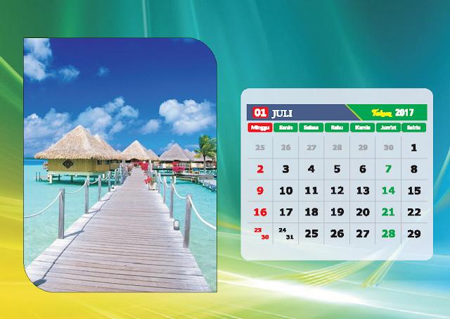 Kalender Bulan Juli 2017