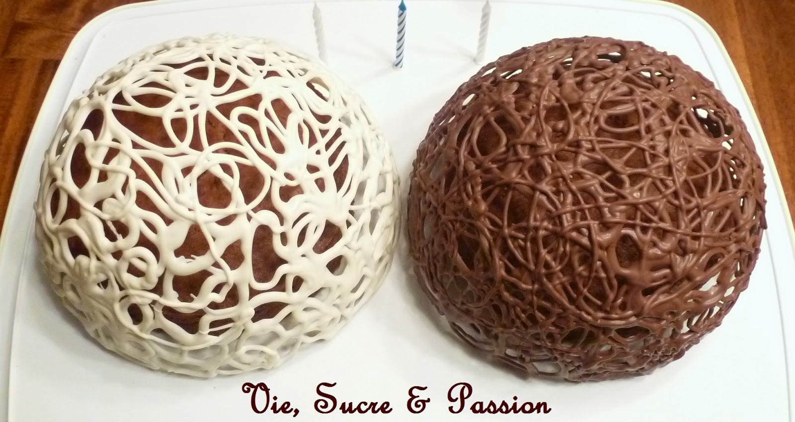 How to make a lace chocolate dome