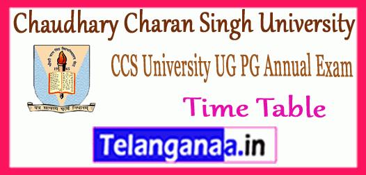 CCS Chaudhary Charan Singh University UG PG Time Table