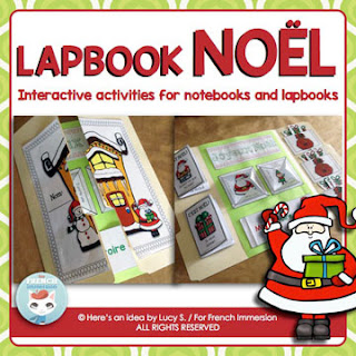 French Christmas Interactive Acitivites for Notebooks or Lapbooks