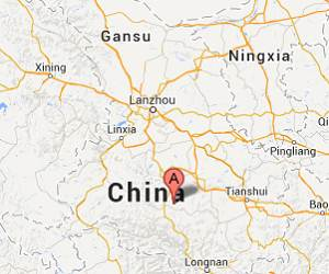 China_Gansu_earthquake_epicenter_map