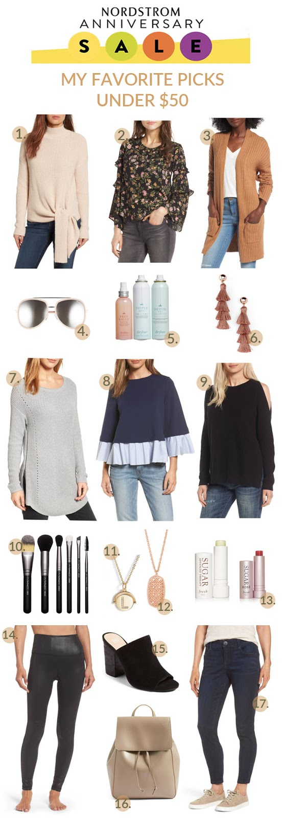 $50 & Under Nordstrom Anniversary Sale Picks by fashion blogger Laura of Walking in Memphis in High Heels