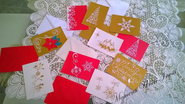 10 Cards d'auguri nataliziCard di Natale Nozze d'Inverno