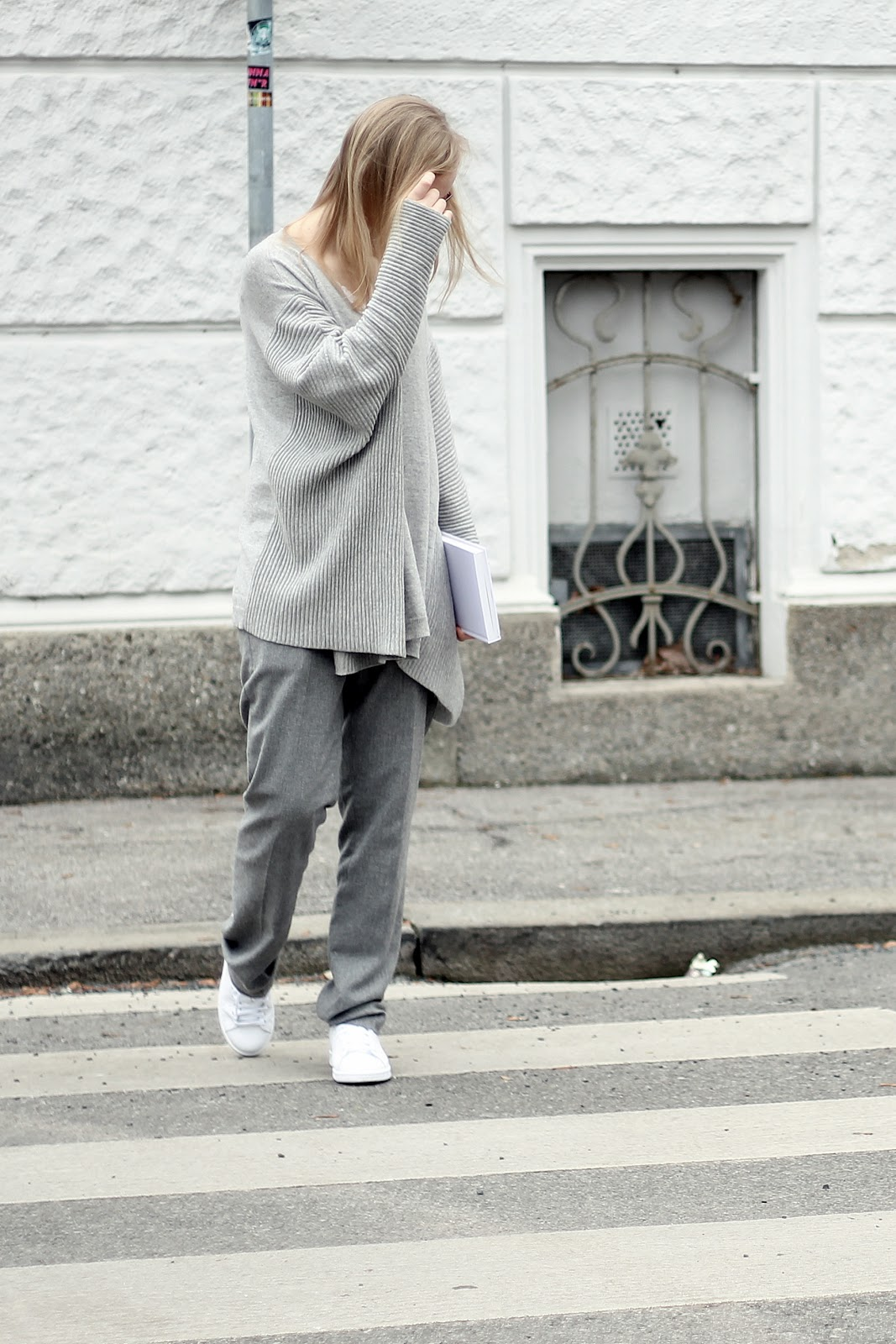 all grey street style