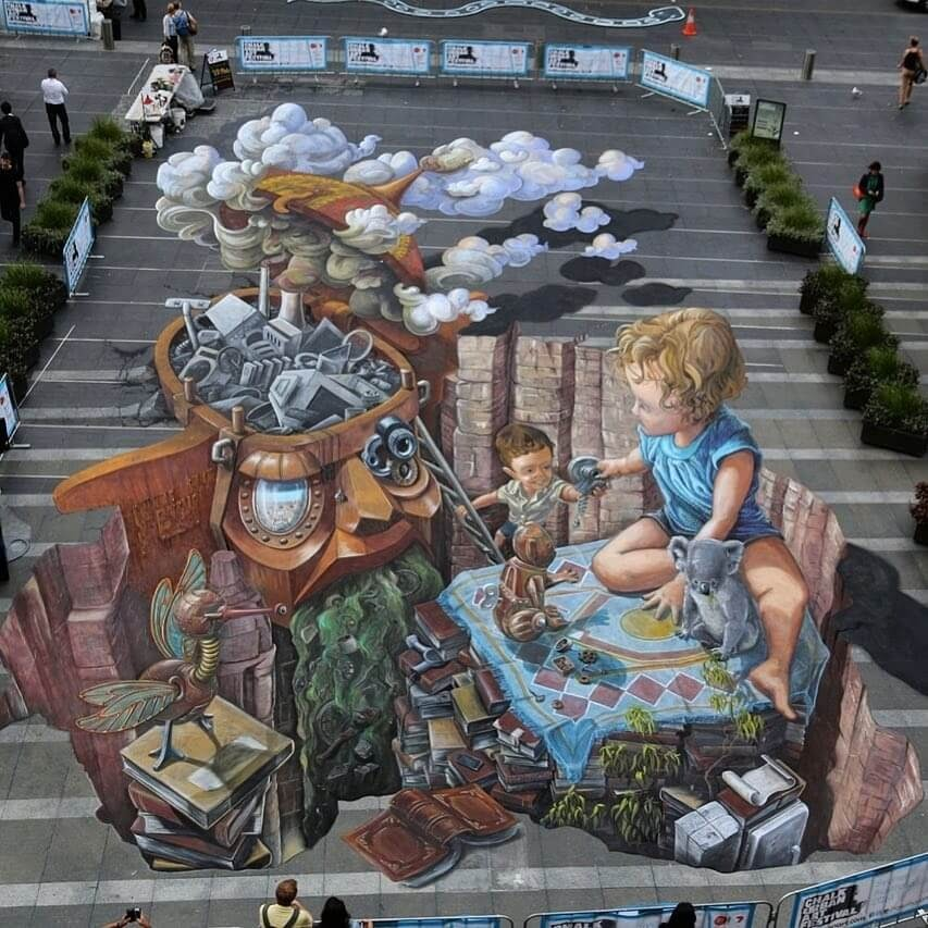 01-Collaboration-Sydney-Australia-Leon-Keer-3D-Anamorphic-Street-Art-and-a-Video-www-designstack-co