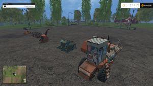 Yenisei 1200 harvester + headers pack