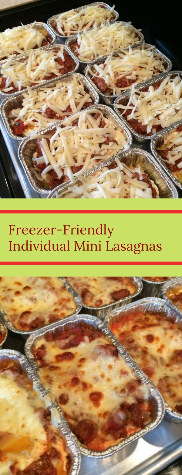 Freezer-Friendly Individual Mini Lasagnas  #easydinner #freezermeals #mealprep #EASYRECIPES