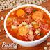 Sopa de Grão-de-Bico com Linguiça na Pressão
