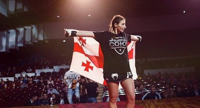 Грузинская спортсменка Лиана Джоджуа завоевала чемпионский пояс ММА, победив представительницу России