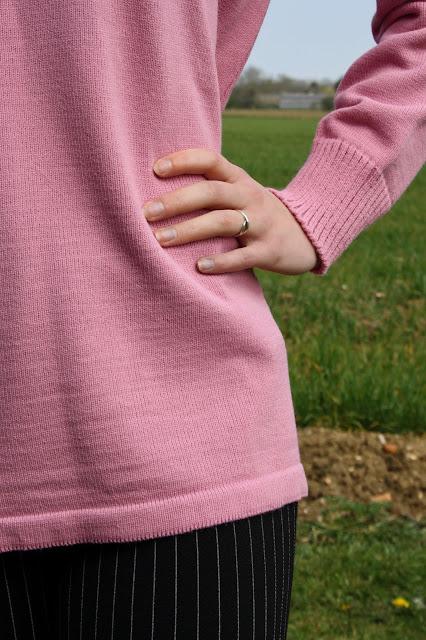 Femme Luxe Finery Pink Oversized Knit Jumper - Hetty