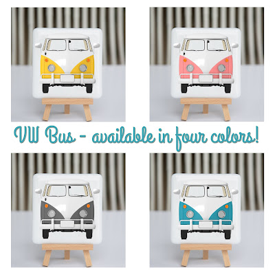 fusography, vw bus, vw van, fused glass, full color photo on fused glass